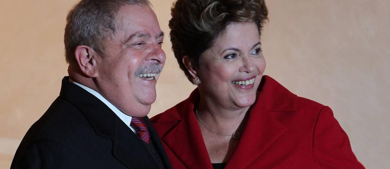Dilma com o ex-presidente Luis Inácio Lula da Silva Foto: Ricardo Stuckert / Instituto Lula