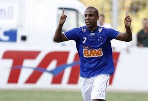 Borges comemora o gol do Cruzeiro na vitória em Belo Horizonte sobre o Flamengo por 1 a 0 Foto: Vipcomm / divulgação