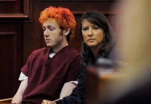 James Holmes, acusado de ser o atirador que matou 12 pessoas e deixou outras 59 feridas em um ataque à sessão de um filme no estado do Colorado na sexta-feira Foto: AP