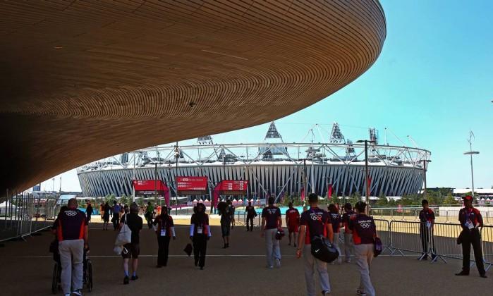 O Parque Olímpico de Londres já está pronto para receber atletas e torcedores Ivo Gonzalez / O Globo