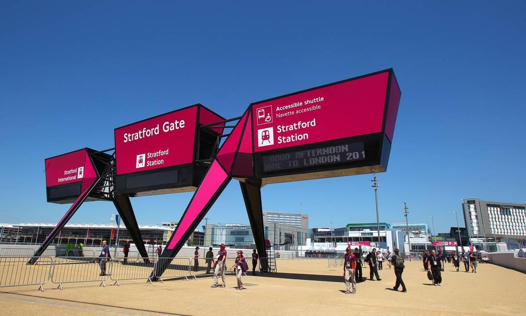 Uma das entradas do Parque Olímpico Ivo Gonzalez / O Globo