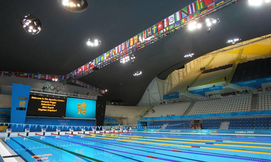 O Parque Aquático também fica dentro do Parque Olímpico de Londres Ivo Gonzalez / O Globo
