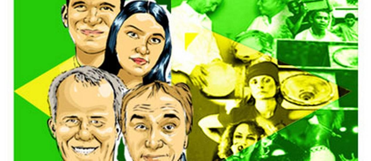 O americano Frederick Moehn, a italiana Sandra D'Angelo, o americano Daniel Sharp e o francês Daniel Loddo (a partir do alto): estudos sobre a música brasileira Foto: Arte: Claudio Duarte