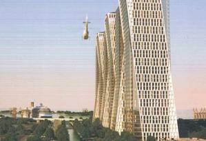 O esboço do projeto Rio Towers, que prevê seis arranha-céus comerciais na Francisco Bicalho Foto: Divulgação
