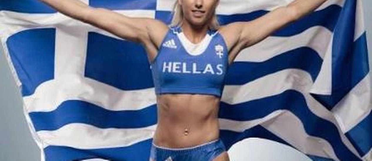 A grega Voula Papachristou foi expulsa dos Jogos pelo Comitê Grego Foto: Divulgação