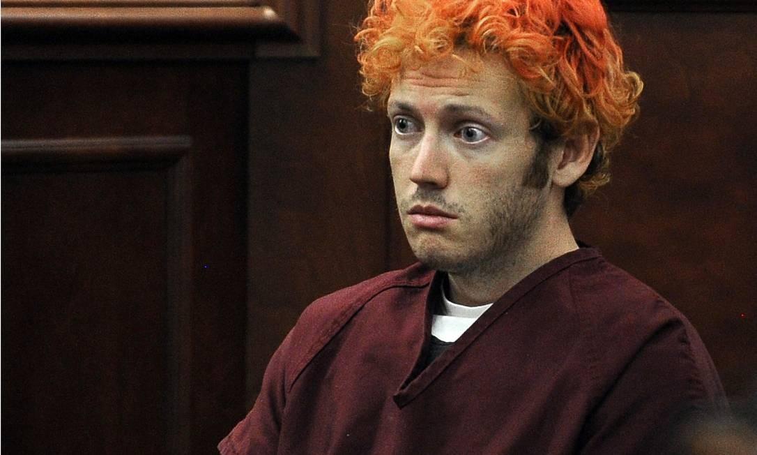 James Holmes no tribunal: amnésia ou fingimento? Foto: AFP/23-7-2012
