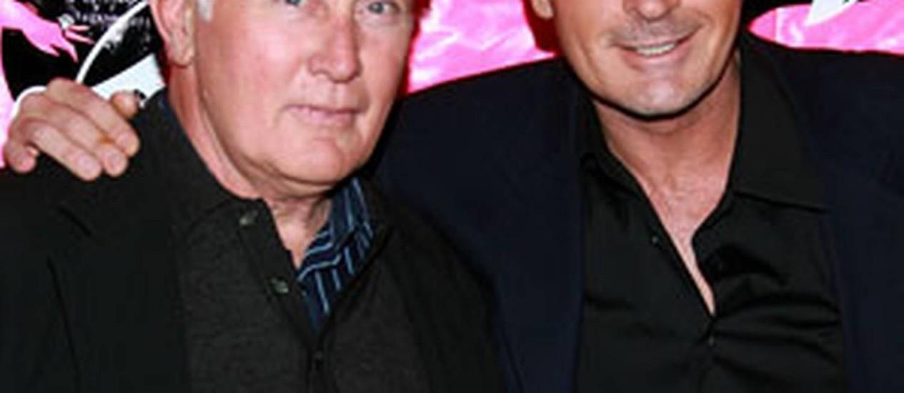 Martin e Charlie juntos num evento Foto: Reprodução de internet