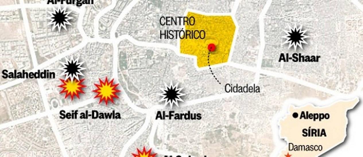 Resultado de imagem para mapa batalha de aleppo