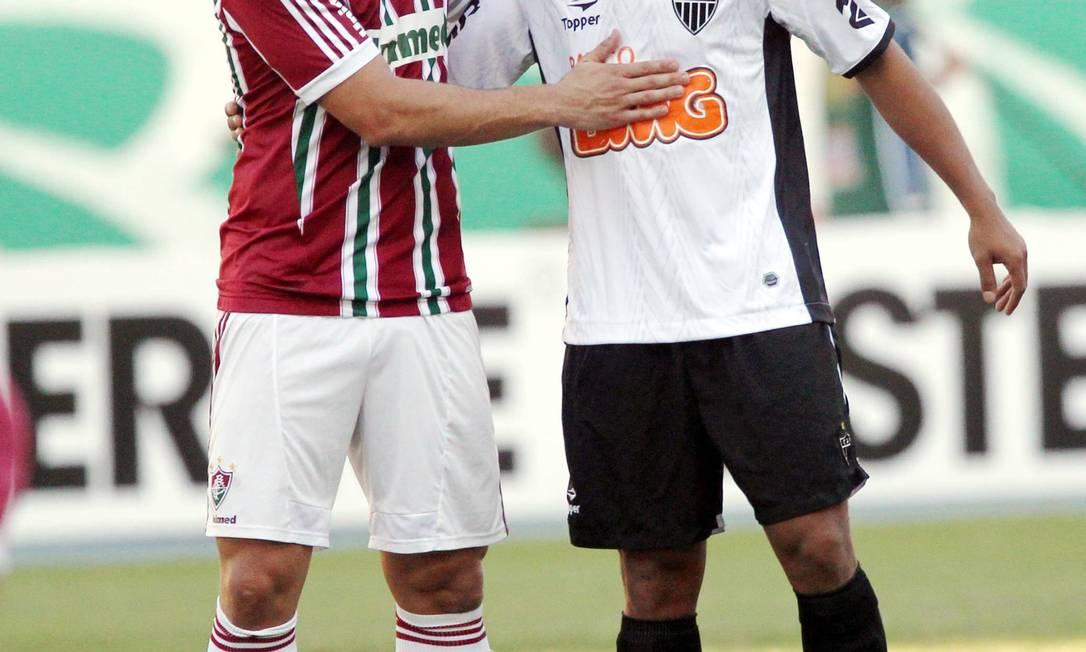 Na partida que marcou a volta de Ronaldinho ao Engenhão, o Atlético-MG empatou em 0 a 0 com o Fluminense Cezar Loureiro / O Globo