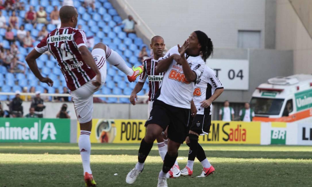 Ronaldinho teve boa participação no jogo Reginaldo Pimenta / Extra / O Globo