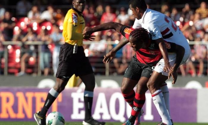No Morumbi, o Flamengo perdeu de 4 a 1 para o São Paulo Eliária Andrade / O Globo