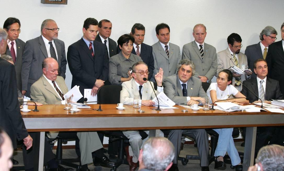 Momento da instalação da CPI dos Correios. Foto: O Globo / Roberto Stuckert Filho 09.06.2005