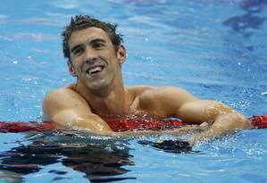 Phelps se torna o maior medalhista de todos os tempos Foto: Reuters