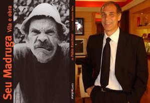 O personagem Seu Madruga e o dublador Carlos Seidl Foto: Fotos: reprodução da internet