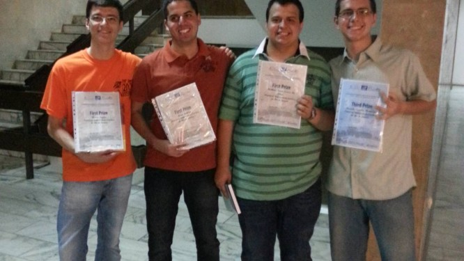 Alunos da PUC-Rio que ganharam medalha em competição internacional de matemática Foto: Divulgação