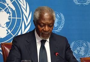 O ex-secretário-geral da ONU Kofi Annan Foto: AFP