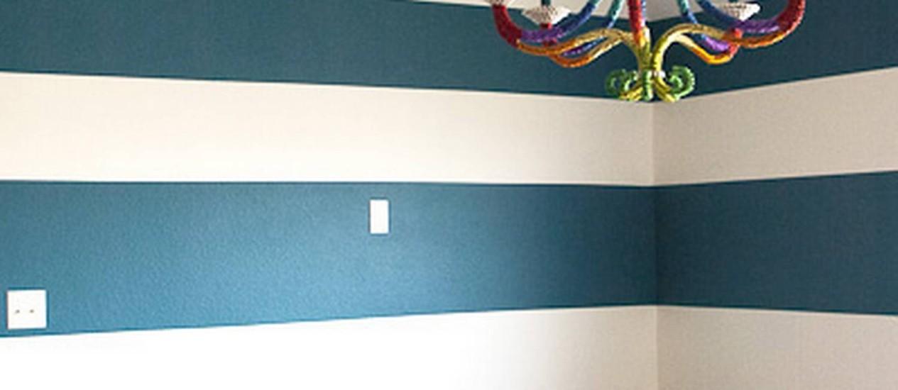 O blog Living with Lindsay ensina como mudar o visual da parede sem grandes gastos Foto: Divulgação