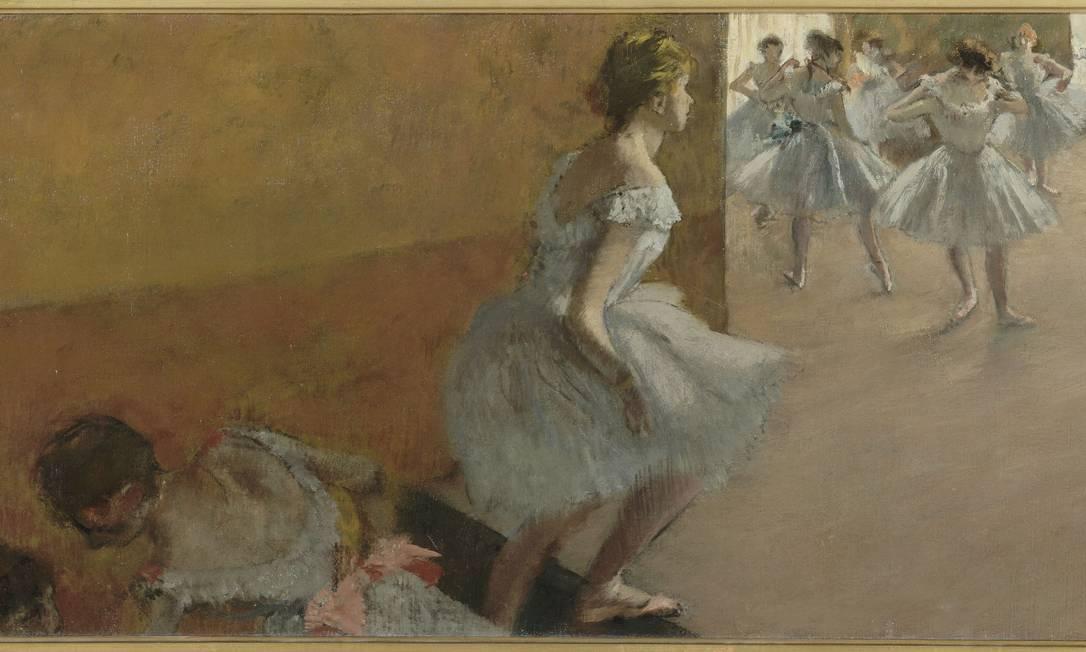 """""""Bailarinas subindo uma escada"""", de Edgard Degas, é uma das 85 obras da exposição Divulgação"""