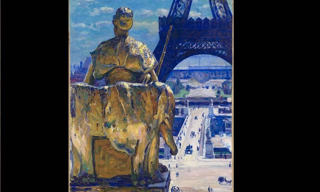 """Imagens de Paris estão presente como na obra """"A torre Eiffel"""", de Louis Welden Hawkins Divulgação"""