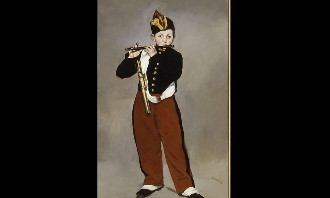 """""""O tocador de pífaro"""" é um das obras-primas de Edouard Manet Divulgação"""