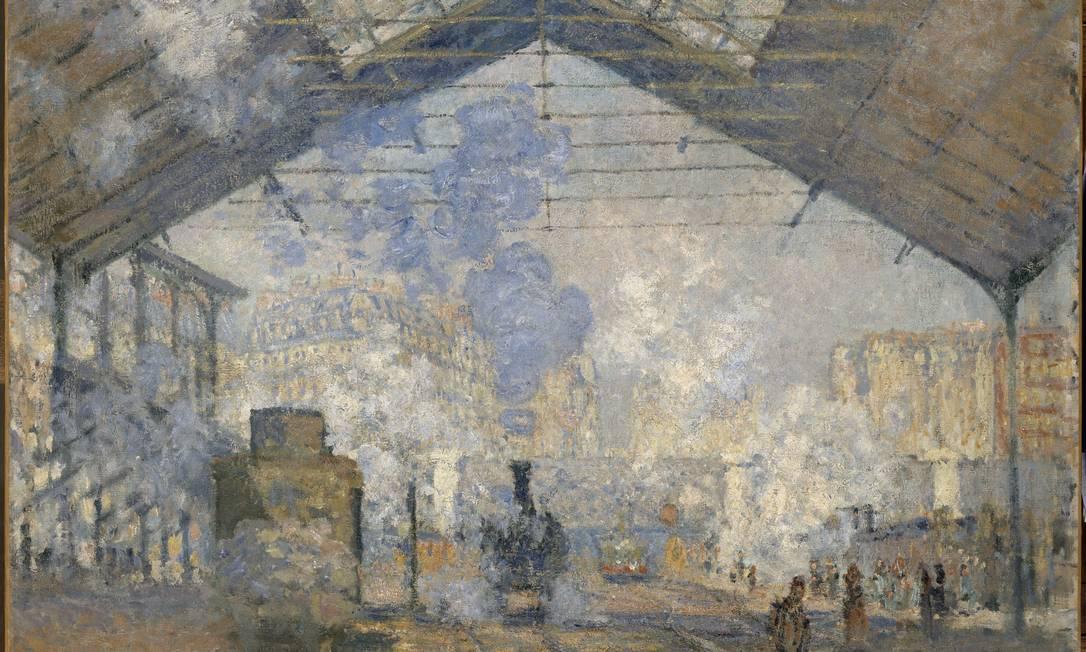 """""""A estação Saint-Lazare"""" é parte da coleção de Claude Monet do Museu D'Orsay Divulgação"""