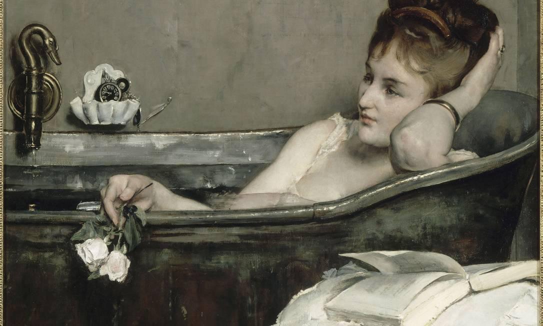 """O pintor belga Alfred Stevens é autor da tela """"O banho"""" Divulgação"""