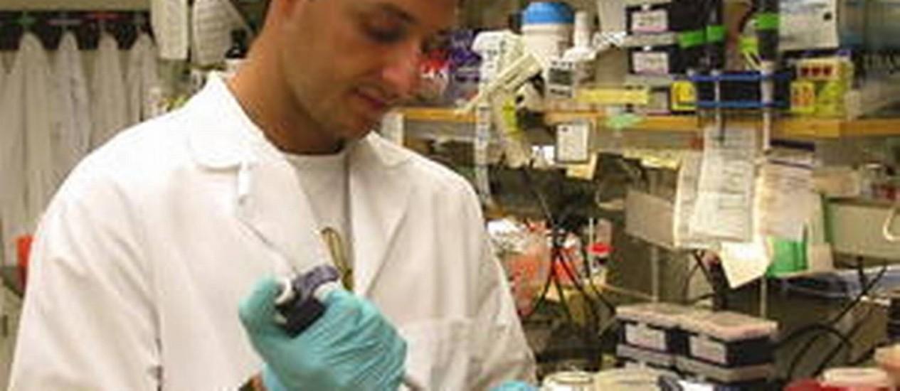 Pesquisa. O cientista brasileiro Alysson Muotri trabalha em seu laboratório de medicina regenerativa, na Universidade da Califórnia, Estados Unidos, para desvendar o autismo Foto: Arquivo Pessoal
