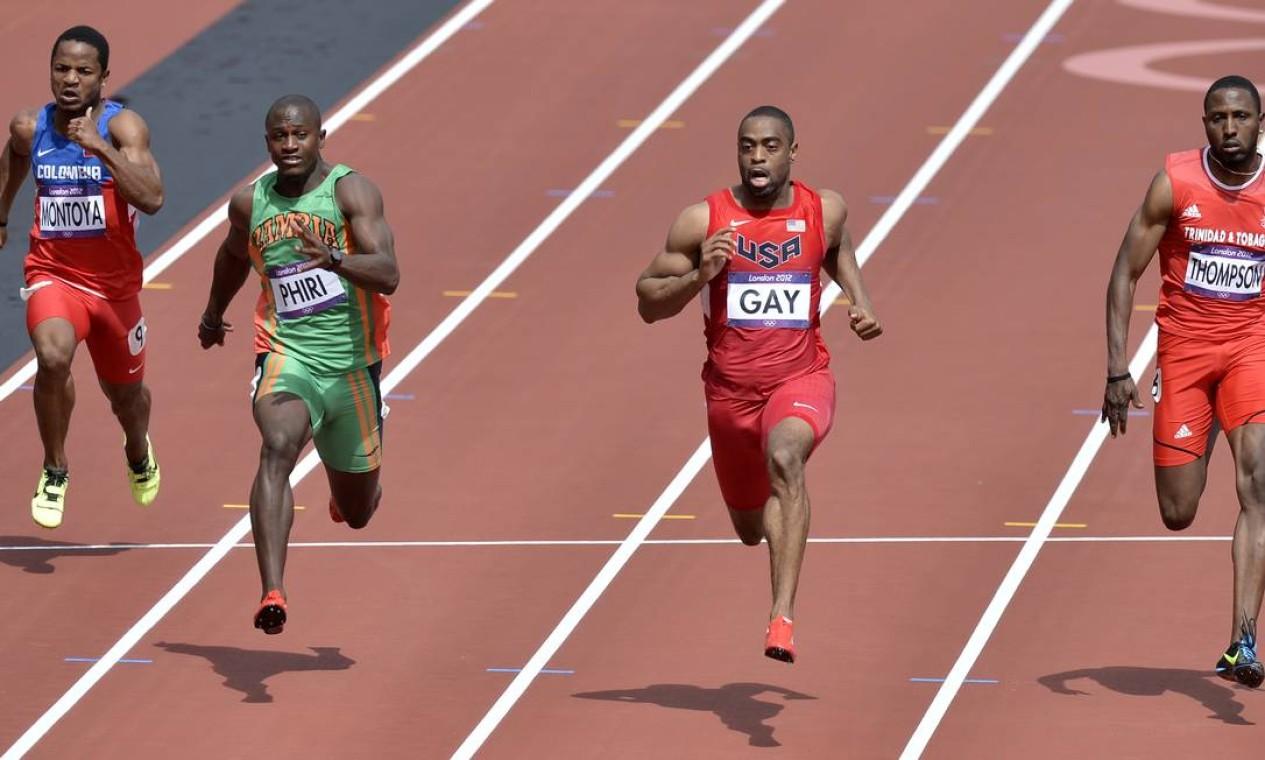 O americano Tyson Gay garante a vaga nas finais dos 100m rasos Foto: AP Photo
