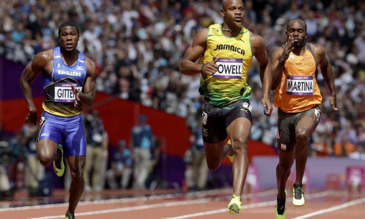 Asafa Powell é mais um jamaicano que venceu sua prova classificatória Foto: AP Photo