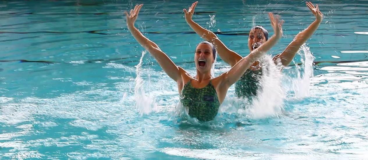 Competição de nado sincronizado nas Olimpíadas de 2012 Foto: Ivo Gonzalez / O Globo