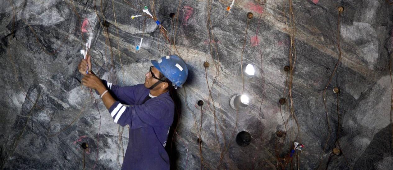 O tuneleiro Manoel Flávio da Silva Souza, que trabalha nas obras do Porto Maravilha Foto: Márcia Foletto / O Globo