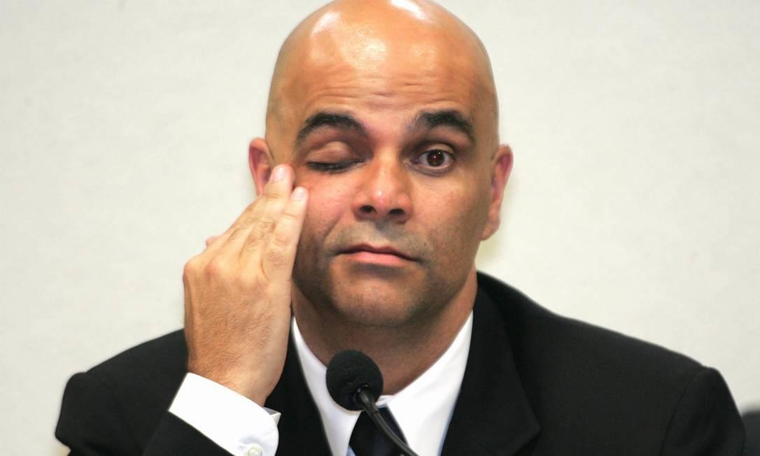 Marcos Valério em depoimento à CPI dos Correios Foto: Agência O Globo / Roberto Stuckert Filho