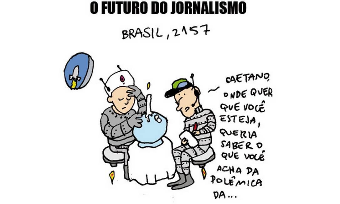 Cartum de Arnaldo Branco sobre Caetano Veloso Foto: Divulgação