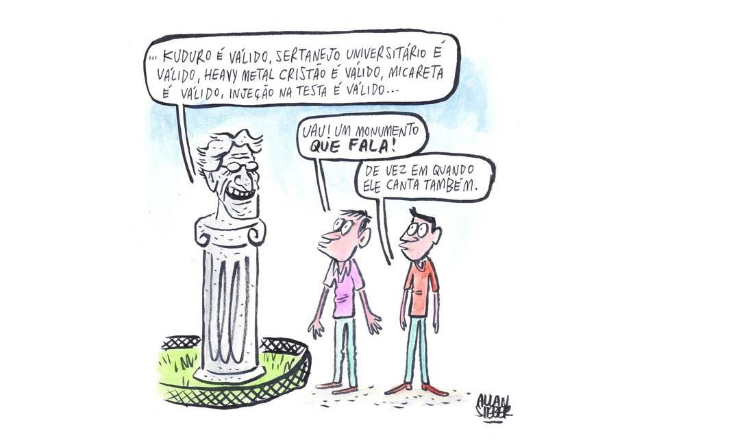 Cartunista, ilustrador e animador, o gaúcho Allan Sieber gosta tanto de Caetano - ou não - que quis fazer uma tira especialmente para ser publicada nesta galeria. Este outros trabalhos podem ser conferidos no seu blog http://www2.uol.com.br/allansieber/ Foto: Divulgação