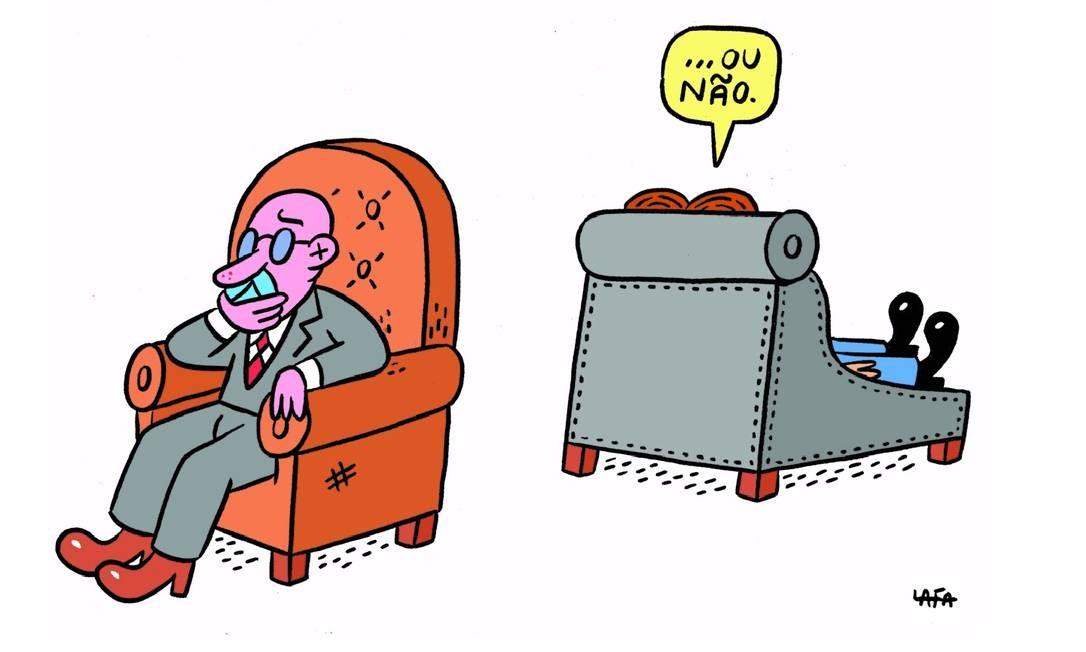 """Autor do livro """"Ultralafa"""" (Leya/Barbanegra) e do blog homônimo (http://ultralafa.wordpress.com/), o cartunista (e fã) Daniel Lafayette brinca com o bordão involuntário de Caetano Veloso Foto: Divulgação"""