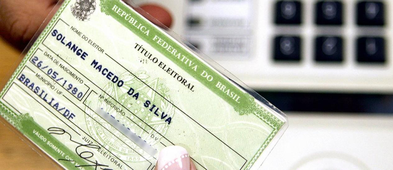 Para votar, é preciso apresentar um documento com foto. O título de eleitor não é obrigatório Foto: Nelson Jr. / Divulgação / TSE