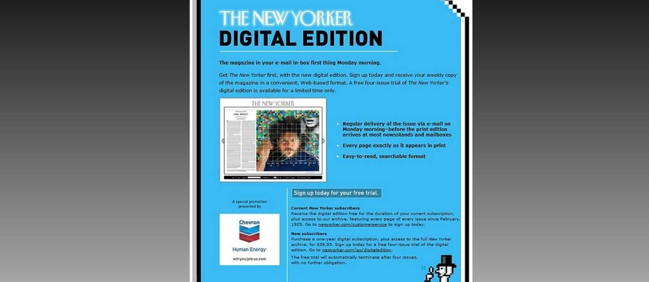 """Edição digital do """"The New Yorker"""" está fazendo sucesso Foto: Reprodução"""