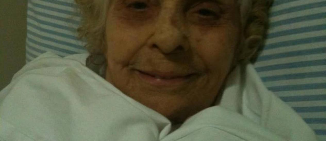 Leonora Amar Rousseau, que está internada no Hospital Rio Laranjeiras Foto: Reprodução / Internet