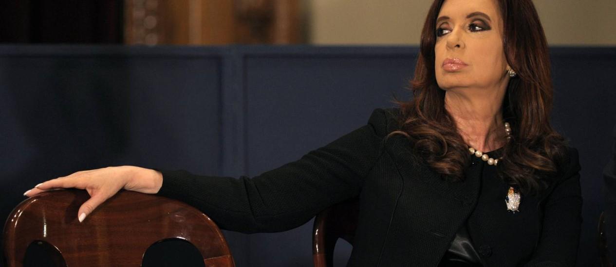 A presidente argentina Cristina Kirchner que declarou possuir mais de 70 milhões de pesos Foto: JUAN MABROMATA/AFP