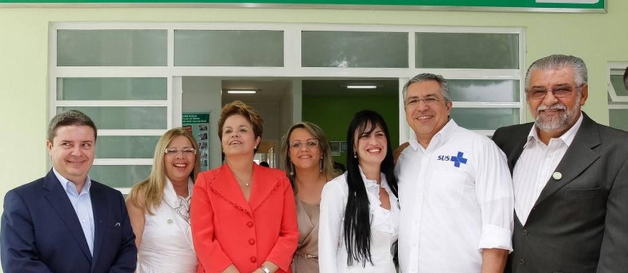 Dilma participa do evento de anúncio da ampliação do programa Brasil Sorridente em Rio Pardo de Minas (MG) Foto: Divulgação