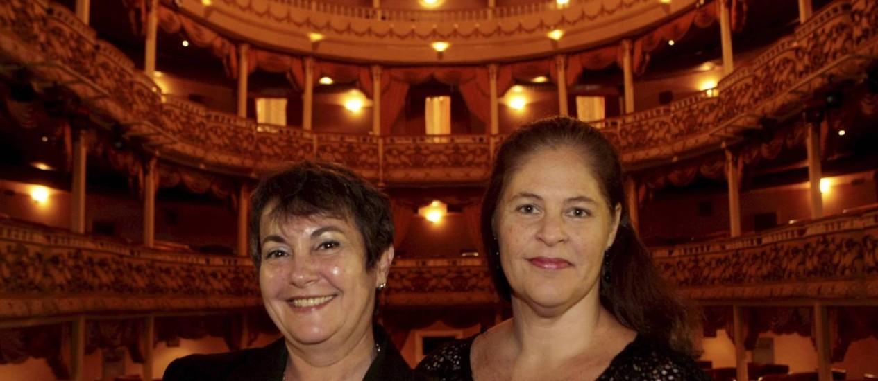 Concerto. Sonia (à esquerda) e Kristina: música dos séculos XVI ao XVIII Foto: Gustavo Stephan / Agência O Globo