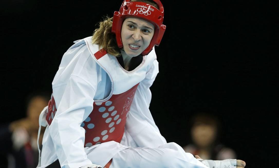 A brasileira Natália Falavigna perdeu logo na estreia no taekwondo Foto: AP