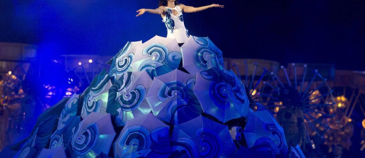"""Iemanjá. Fazendo referência à divindade do candomblé, Marisa Monte cantou a Ária das """"Bachianas Brasileiras nº 5"""" Foto: ivo gonzalez"""