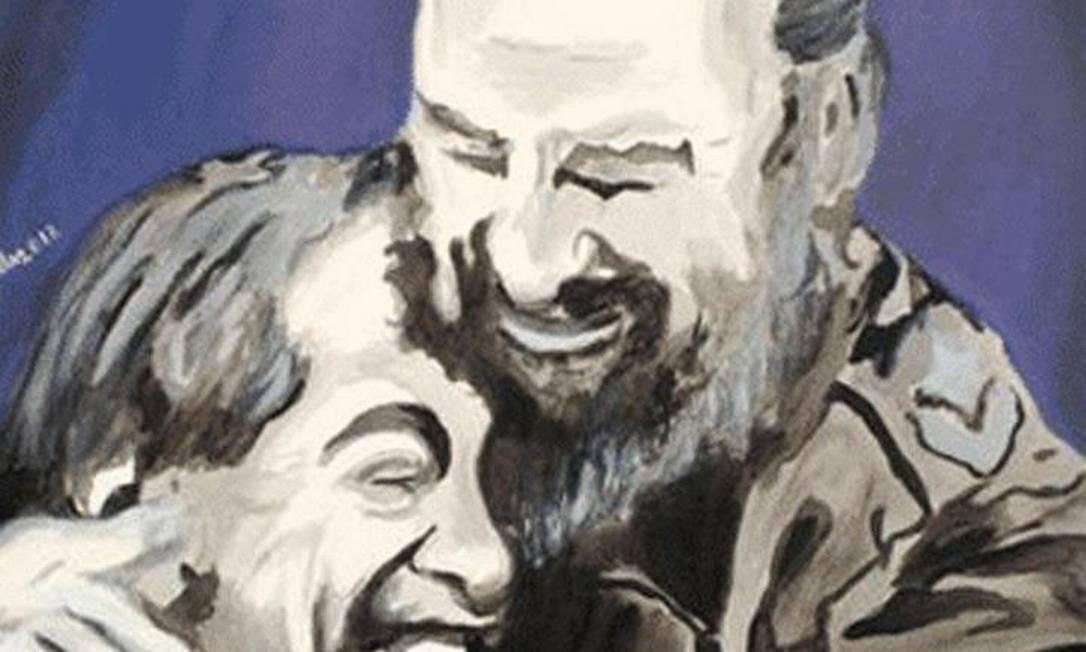 Em homenagem aos 86 anos de Fidel Castro, uma galeria de pinturas é exibida no Centro da Amizade em Havana Foto: ACN / Helder Becerra