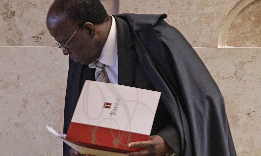 O ministro do STF Joaquim Barbosa André Coelho / O Globo