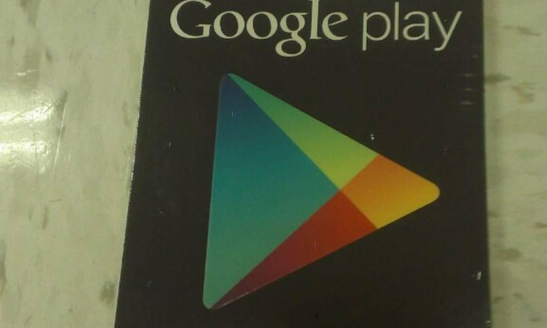 Cartão de presente da Google Play, loja para Android Foto: Reprodução da internet