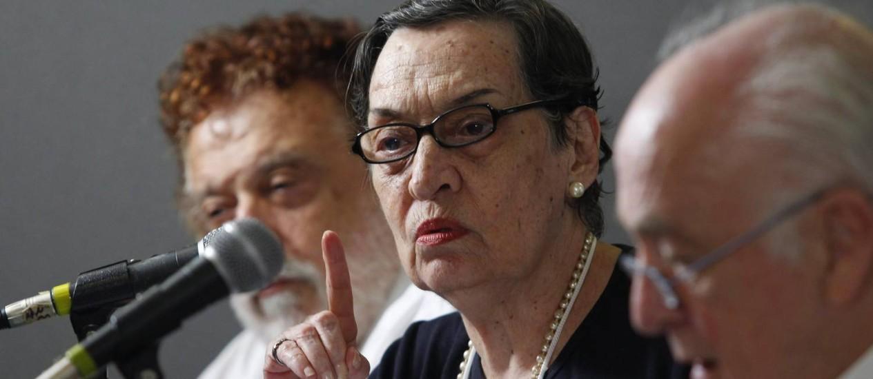 Maria da Conceição Tavares acredita que economia brasileira vai crescer 3% em 2012 Foto: Custodio Coimbra/ 28-11-2011