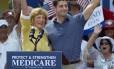 O pré-candidato republicano a vice-presidente dos Estados Unidos, Paul Ryan, levou a mãe para um comício na Flórida