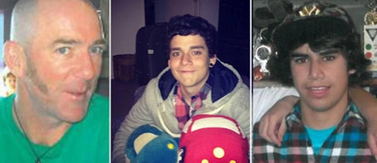 O brasileiro João Felipe, de casaco claro, e o neozelandês Stephen Lewis Kahukaka-Gedye, ambos com 17 anos, desapareceram em 8 de agosto Foto: Reprodução