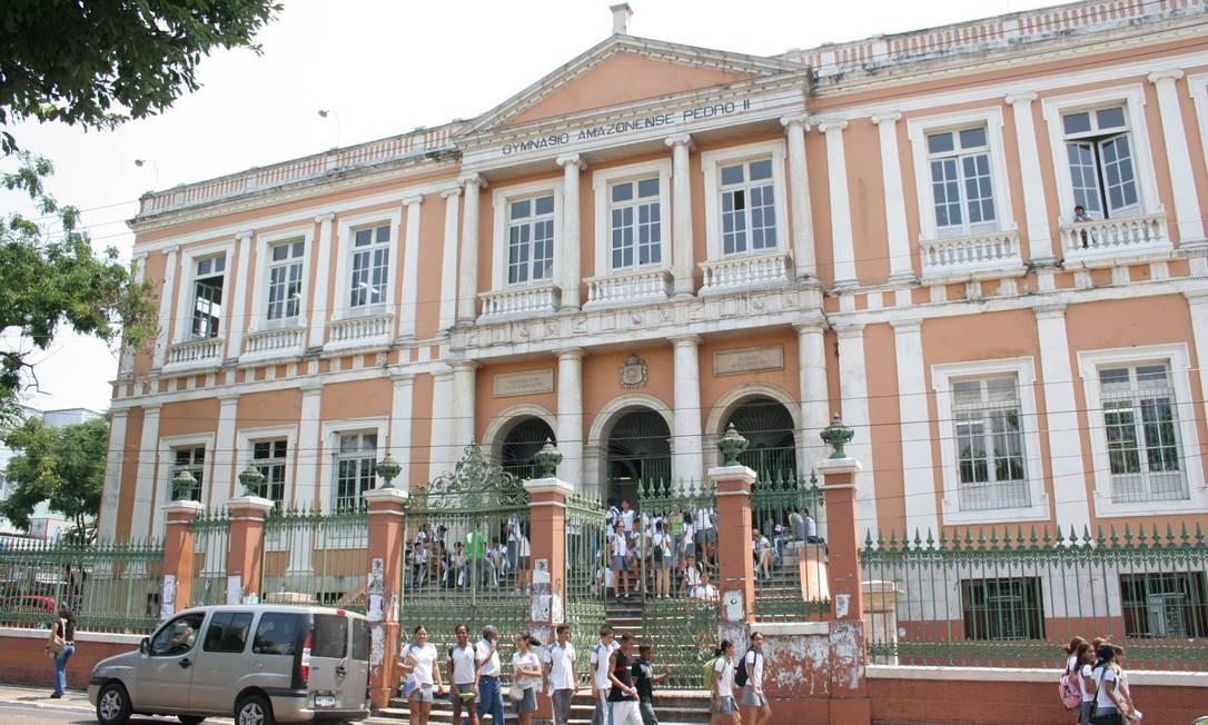 O centenário Ginásio Amazonense D. Pedro II, Manaus: Ideb do estado foi o que mais cresceu no ensino médio Foto: Seduc-AM / Divulgação